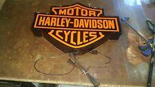 Harley Davidson Motorcycle lighted signfatboy iron head shovel head sportster