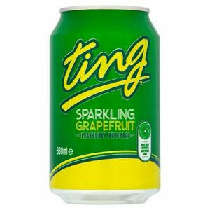 24 x Ting Sparkling Grapefruit Soft Drink Cans 330ml FULL CASE FREE DELIVERY