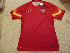RARE NWT Nike 2014 WC USA Authentic Player Issued Red Goal Keeper Jersey (XL)
