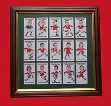 MIDDLESBROUGH FC HEROES & LEGENDS FRAMED CARD SET FREE POSTAGE