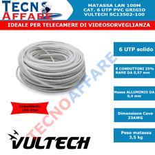 Matassa Lan Ethernet 50M/100M Cavo Rete UTP CAT6 VULTECH SC13502-50/SC13502-100