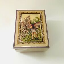 The San Francisco Music Box Co Lacquered Jewelry Box Flower Fairies Lilac Fairy