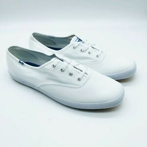 Keds Ortholite Womens Sneakers Low Top Lace Up Canvas White Basic Size 11