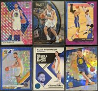 Lot of (6) Klay Thompson, Including Mosaic Pink, Optic/Revolution parallels more