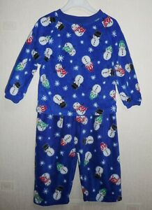 THE CHILDREN'S PLACE XMAS SNOWMAN & SNOWFLAKE BLUE PYJAMAS AGES 3-4 & 5-6 YEARS