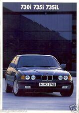 Auto Brochure - BMW - 730i 735i 735iL - c1986/87 - 2 items (AB272)