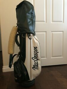 Vintage MacGregor Staff Bag 6 Way Divider Green and White with Original Paper