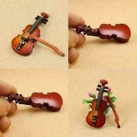 Puppenhaus 1:12 Mini Violine Instrumente Für Puppenzubehör Raumszene Spielz Y7A3