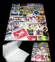 Premier World Postage Stamp Album Stock Book 8 pages for 200+ stamps Collection