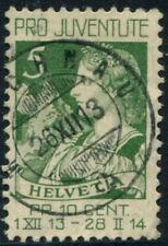 SWITZERLAND - 1913 PRO JUVENTUS 5c 'GREEN' SGJ1 VFU Cv£13 [A7584]*