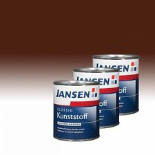 3 x Jansen Flüssig Kunststoff nußbraun 8011 0,75l - Flüssigkunststoff