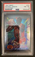 🔥 1994 Finest #331 Michael Jordan Bulls W/Coating PSA 8 Iconic 45 Jersey 🐐📈