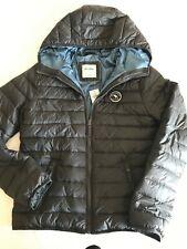 NWT Abercrombie Kids Boys Hooded Puffer Jacket XL Sz 16 Grey