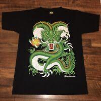 MD My Dream THAILAND Black T-shirt UNISEX Hindu Dragon size Medium Glows In Dark
