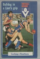 Football Record  Geelong vs Hawthorn 1982  Hawks Big Winners  at Waverley
