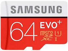 Samsung 64 GB MICRO SD XC Mapa Class10 para Galaxy S3 S4 S5 S8 S7 Mini Edge Neo