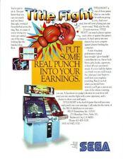 Title Fight Arcade FLYER Original Sega NOS Video Game Artwork Sheet Retro Gaming