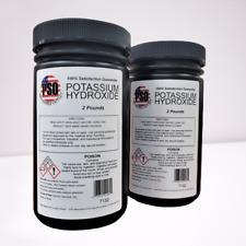 Potassium Hydroxide Caustic Potash 20lb Fine Flakes Soapmaker Koh Food Grade