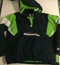 Vintage Nfl Seattle Seahawks Starter Jacket Parka Pullover Authentic X Large Xl