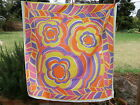 BALAKA Tablecloth PSYCHEDELIC Geometric RETRO VINTAGE FABRIC