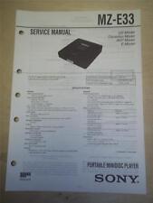 Sony Service Manual~MZ-E33 Minidisc Player~Original~Repair