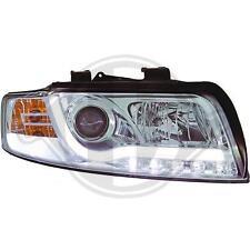Fari Anteriori Dayline Daylight LTI CCFL Light Tube Audi A4 B6 01->04 Cromati