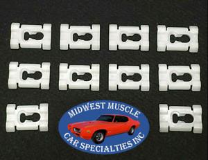NOS Cadillac Pontiac Vinyl Soft Top Body Side Belt Molding Trim Clips 10pcs PB