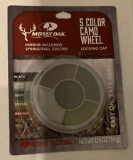 Mossy Oak 5 Color Camo Spring & Fall Hunt Face Paint with Mirror and Locking Cap