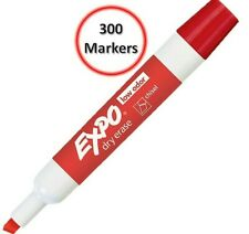 Low Odor Dry Erase Markers Chisel Tip (80002) Red - Bulk Size Pack of 300 Each