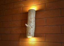 wall light, wooden wall lamp, sconce made of natural log, wall fixtures, lamp