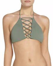 Brand NEW Green Olive  Women's Size Small Bikini Top Swimwear Nordstrom