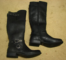 Women's 5.5 5-1/2 G by Guess black tall riding boot heel Harvest