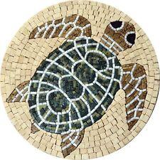 Pastel Medallion Mosaic - Turtle Mosaic Marine Life&Nautical Mosaic Tile