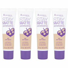 (4 Pack) NEW Rimmel Stay Matte Liquid Mousse Foundation Soft Beige 200 1 Oz.