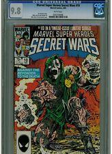 MARVEL SUPER HEROES SECRET WARS #10 CGC 9.8 MINT WHITE PAGES DOCTOR DOOM M. ZECK