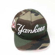Vintage NEW ERA New York Yankees Camo Snapback Hat Green