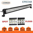 """180W 32"""" LED Work Light Bar Flood Spot Combo Offroad 4WD SUV Boat Driving Lamp"""