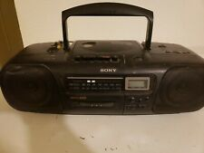 Sony Cfd-12 Boombox Cd Radio Tape Player/Recorder Mega Bass