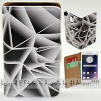 For OPPO Series - Triangle Polygon Theme Print Wallet Mobile Phone Case Cover