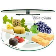 Tempered Glass Lazy Susan Rotating Turntable Serving Plate Cheese Plate 45 cm