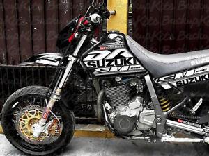 Suzuki DR650 GRAPHIC KIT SUPER MOTARD BLACK PLASTICS (1996 - 2020)