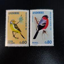 ANDORRA FRANCÉS Nº240/241 PROTECCIÓN LA NATURE / PÁJAROS NEUF MNH