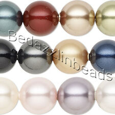 Lot of 50 Assorted Color 10mm Round Swarovski Crystal Loose Pearl Beads (5811)