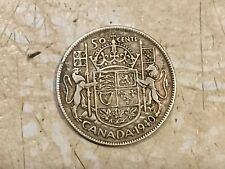 World War Two 1940 Canada Half Dollar  50C  Silver Lot