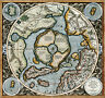 1595 Mercator Map of the Northern Polar Regions Wall Art Poster Flat Earth Print