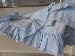 Bettbezug Volant Rüschen f. 200x210 Bettdecke hellblau 100% Baumwolle Tagesdecke