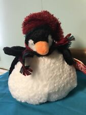 Russ Berrie Poof Chubby Penguin 9 inches tall Plush Stuffed Animal Black