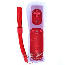Mando Remote + Funda Silicona + Correa para Wii ROJO n38