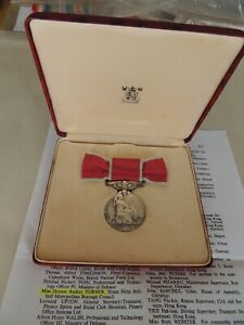 Silver Royal Mint Cased British Empire Medal To Miss Turner Home Help Solihull