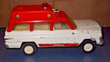VINTAGE 1970'S TONKA RESCUE SQUAD JEEP WAGONEER AMBULANCE PRESSED STEEL TOY